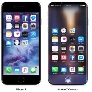iPhone 7 vs iPhone X Concept